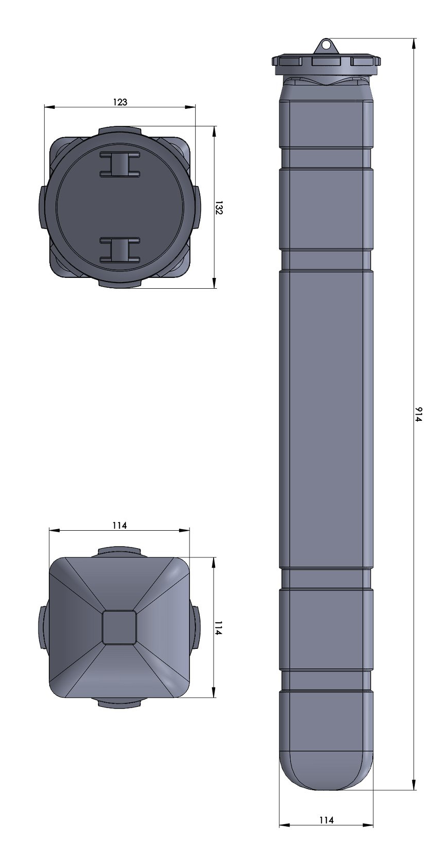 GDI-11L Oyster Float TECHNICAL DRAWING