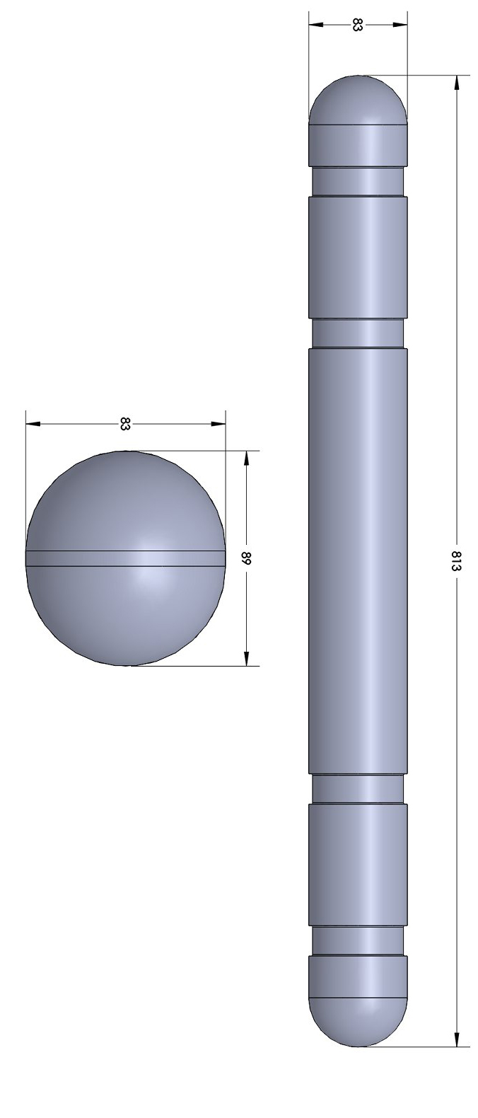 GDI-32 Oyster Float TECHNICAL DRAWING